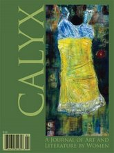 Summer 2009 Calyx cover, leaf green with an oil painting of a yellow slip