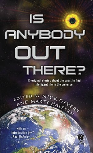 Cover of the DAW Books anthology Is Anybody Out There?