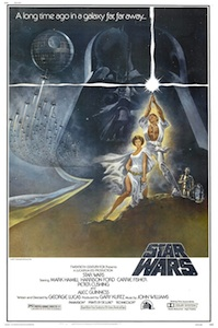 The 1977 Star Wars movie poster